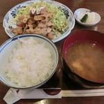 食事処 あみじゅう - とん焼き900円