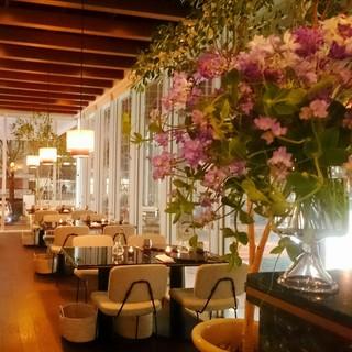 緑溢れる空間で料理とワインを大切な人とごゆっくり