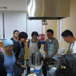 料理教室開催中