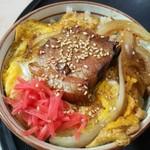 くるまやラーメン - 角玉丼です。