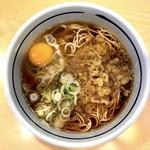 吉そば - たぬき(350円)&玉子(70円)