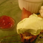 ブラン・ド・ブラン - 抹茶のアイスとドライフルーツのパウンドケーキ