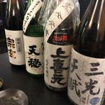 麦酒庵 - 並ぶ日本酒
