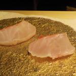 鮨 Shizuku - 雫コース18000円❻刺身・一本釣金目鯛