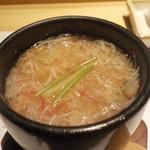 鮨 Shizuku - 雫コース18000円⓭赤玉帆立の蟹餡かけ茶碗蒸し