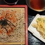 野田温泉 ほのか お食事処 - 料理写真:天ざるそば。