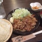陣屋 - 料理写真:♪うそだぁーー、本当に生姜焼き¥500