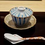 82191302 - 先付 くもこの茶碗蒸し 香住の蟹のあんかけ わさびを添えて