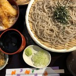 鎌倉からり - ざるそばミニ天丼セット
