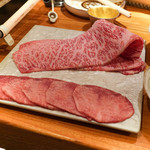 東京肉しゃぶ家 - 太田牛のサーロインとタンしゃぶしゃぶ
