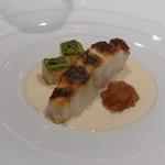 Takumi - 真鯛のポアレ、タラの白子ソース