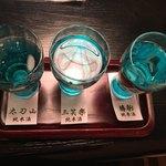 いろり - 地酒飲み比べセット
