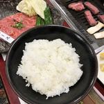 宮崎牛第一号指定店 焼肉の幸加園 - ご飯は柔め