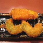 串の坊 - ①海老紫蘇巻とカボチャ(雅)