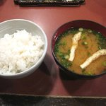 串の坊 - ご飯と味噌汁(お替り自由)
