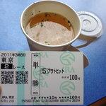 鳥千 - チキンスープ150円