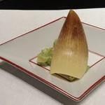 nihonryourioosakaukihashi - 先付:竹の子木の芽和え 玉あられ