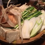 もん善別館 - すき焼きのお野菜たち(^_^)