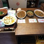 82210704 - お惣菜。タラの南蛮漬け、金平ごぼう、切り干し大根、フキ煮。