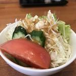 洋食の藤 - 綺麗な野菜サラダ(2018.3.10)