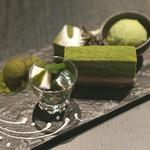 祇園 北川半兵衞 - 抹茶のテグリネゾン、お菓子のプラトー