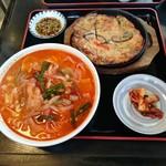 多来 - ランチの温麺セット(オルクン+海鮮チヂミ)1,404円