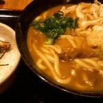 やまぎわ製麺所 - カレーうどん 大盛 鶏そぼろご飯セット