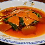 82221063 - 大海老とオマール海老のニ種作り鮑と白霊茸のオイスターソース