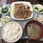 肉のたかはし - 生姜焼き定食