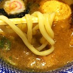 三竹寿 - 濃厚豚骨魚介つけ麺(730円)に, 無料券で頂いた味玉トッピングです。