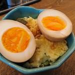 アメリカ - 煮卵たくあんポテトサラダ