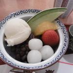 茶寮 帝塚山 季 - 小倉アイスみつ豆