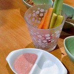 小料理 石蕗 - スティック野菜(明太マヨネーズ)
