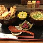 薩摩うどん - おい丼セット1050円(税別)