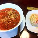 中国料理 水晶楼 - 坦々麺とミニ炒飯セット