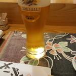 すし追 - ドリンク写真:先ずは、ビールで