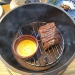 IZAKAYA □1 - 「ダッチオーブンで作る 牛ZABUTONの瞬間燻製 200g (1890円)」