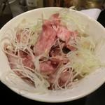 麺匠 濱星 - ミニローストビーフ丼(350円)