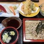 すし万大将 - 料理写真:にぎり天ざる(¥1480)