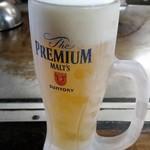 電光石火 - 生ビール(プレミアムモルツ)