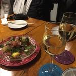 82258687 - 自家製カラスミとラディッシュを散りばめた                        あぶり〆鯖のマリネ     880円