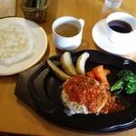 今出川珈琲館 - ハンバーグステーキ