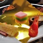 芳野旅館 - 夕食(前菜5点盛り)