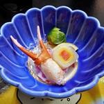 芳野旅館 - 夕食(カニの酢の物)