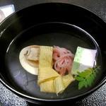 芳野旅館 - 夕食(ハマグリの吸い物)