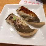 板前寿司  - 穴子、ツメと塩