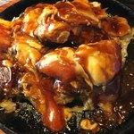 京ちゃばな - 豚肉のトマトお好み焼き(*´ω`*)