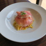 SPOON CAFE - 生ハムとルテイン卵のカルボナーラ1