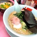 山岡家 - ラーメン塩 卵かけご飯 平日ランチ 750円