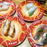 元禄寿司 - 「生蛸」「ウナギ」「エンガワ」「鯵」。一気オーダー。